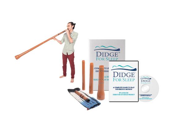 Didge For Sleep: A Complete Didgeridoo Sleep Apnea Therapy Kit with Travel Didgeridoo, Handbook & DVD